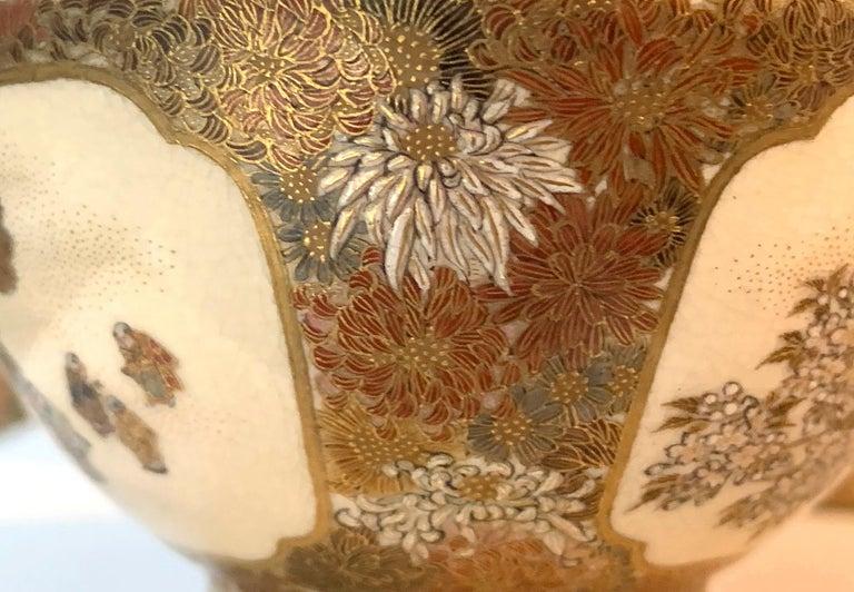 Japanese Meiji Satsuma Bud Vase Yabu Meizan For Sale 2