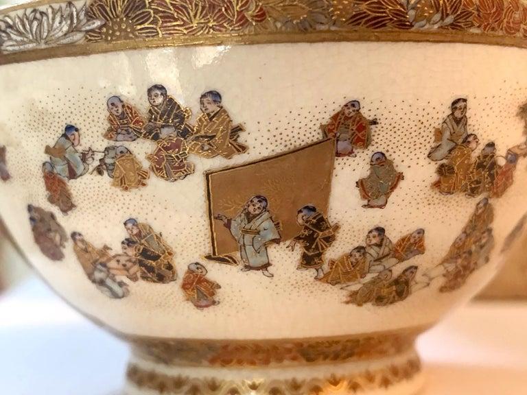 Japanese Meiji Satsuma Bud Vase Yabu Meizan For Sale 3