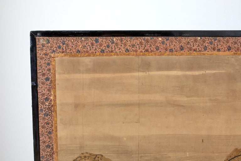 Japanese Meiji Six Panel Screen Chinese Sage on Donkey For Sale 4
