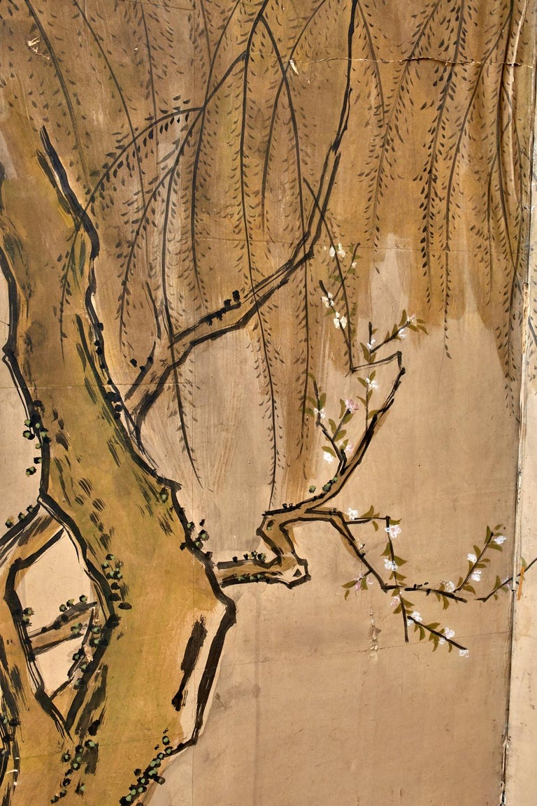 Japanese Meiji Six Panel Screen Chinese Sage on Donkey For Sale 6