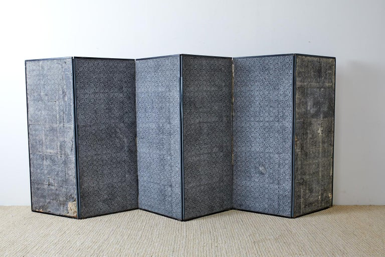 Japanese Meiji Six Panel Screen Chinese Sage on Donkey For Sale 14