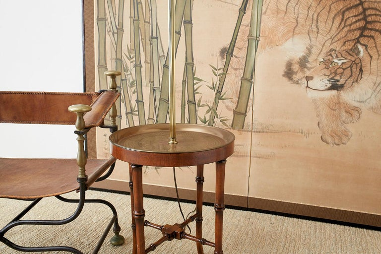 Japanese Meiji Two-Panel Screen Tiger and Bamboo For Sale 5