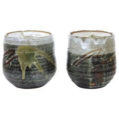 Japanese Mid-Century Art Studio Ceramic Jars