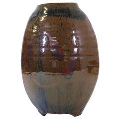 Japanese Mid-Century Modern Studio Pottery Vase