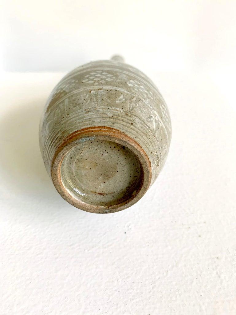 Japanese Mishima Ceramic Vase Meiji Period For Sale 4