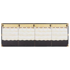 Japanese Modern Four-Panel Bakufu Curtain Screen