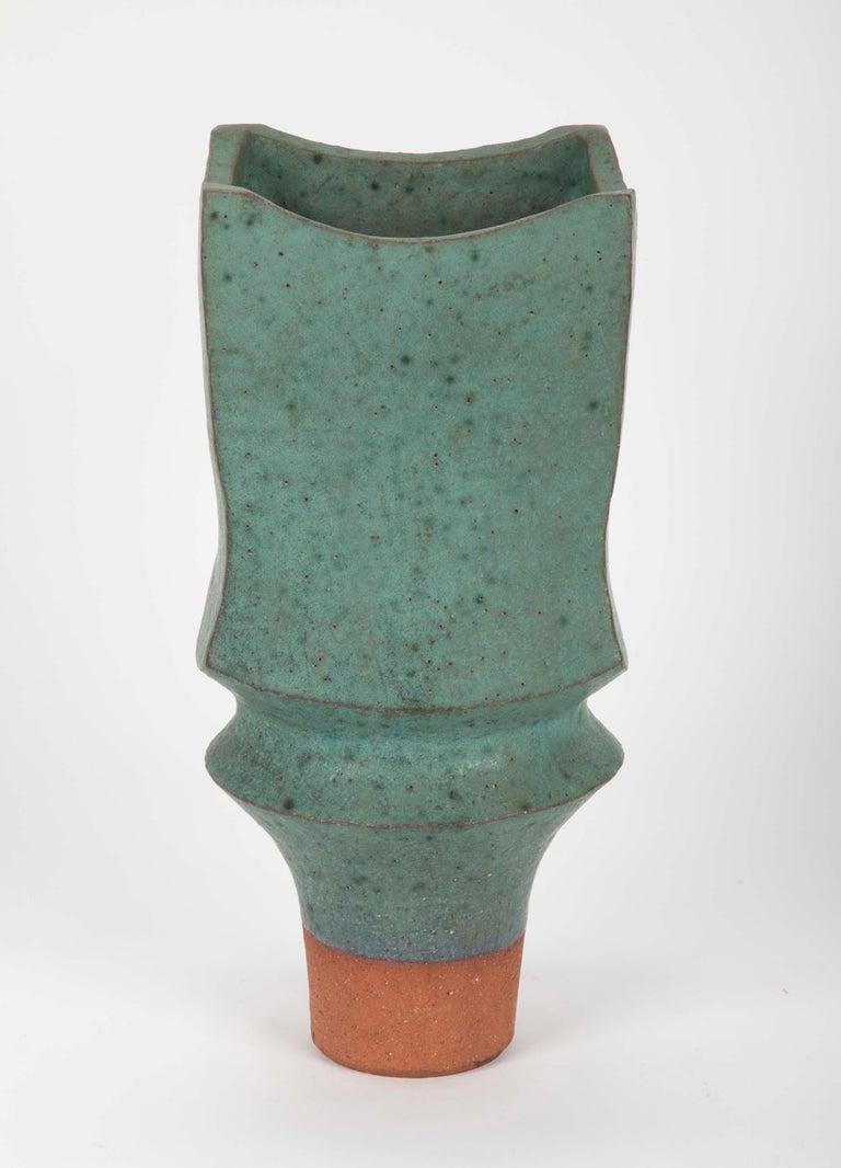 Mid-Century Modern Japanese Modernist Glazed Ceramic Vase For Sale