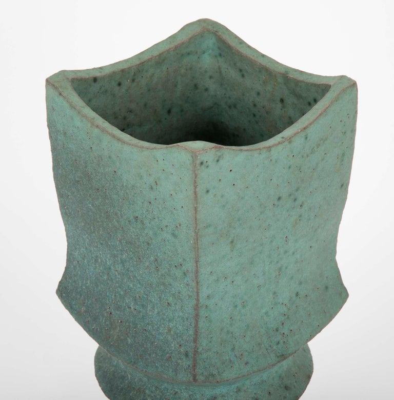 20th Century Japanese Modernist Glazed Ceramic Vase For Sale