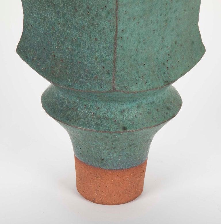 Japanese Modernist Glazed Ceramic Vase For Sale 1