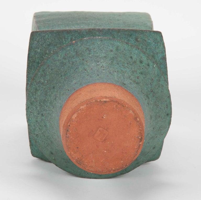 Japanese Modernist Glazed Ceramic Vase For Sale 2