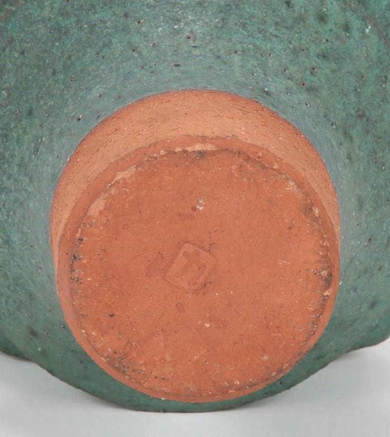 Japanese Modernist Glazed Ceramic Vase For Sale 3