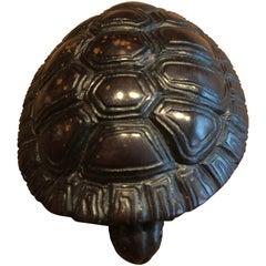 Japanese Netsuke 20th Century, Tortoise Wood Carved