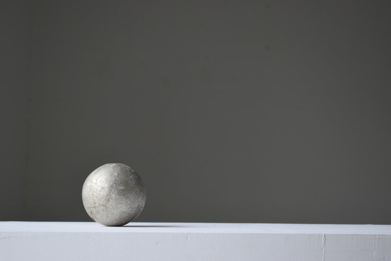 Japanese Old Aluminum Ball 1920s-1950s/Antique Object Figurine Wabisabi Art For Sale 1