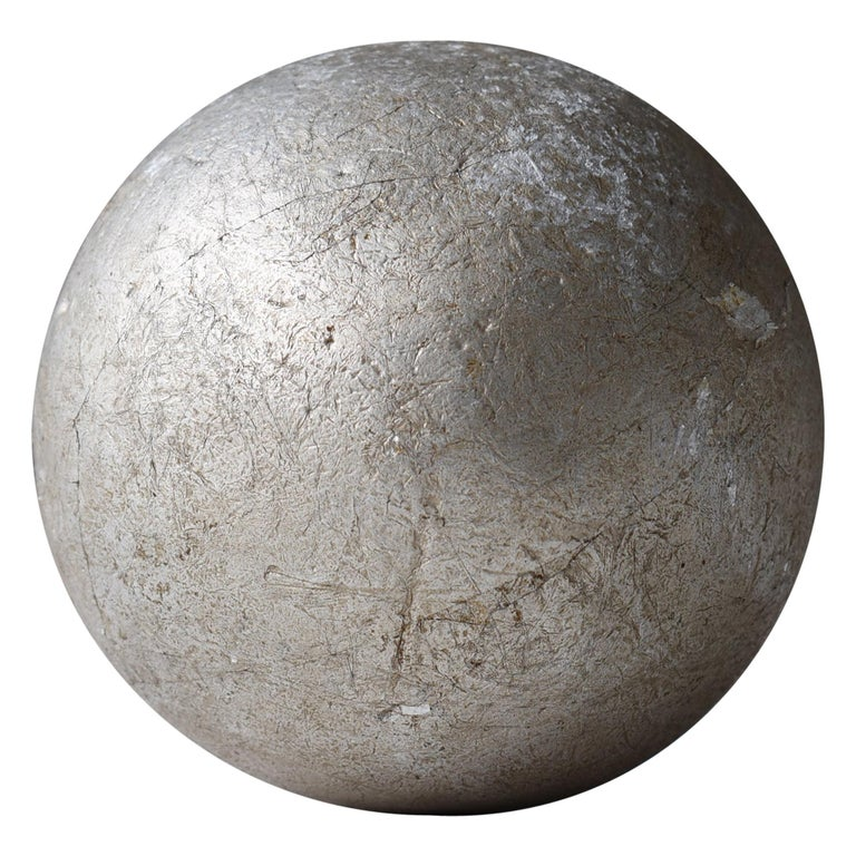 Japanese Old Aluminum Ball 1920s-1950s/Antique Object Figurine Wabisabi Art For Sale