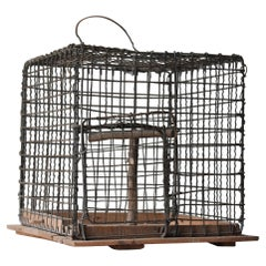 Japanese Old Birdcage 1920s-1950s/Antique Object Figurine Wabisabi Art