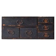 Japanese Old Drawer 1860s-1920s/Antique Chest Cabinet Shelf Storage Wabisabi