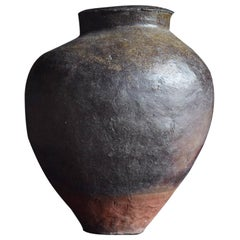 Japanese Old Pottery 1700s-1800s Tokoname / Antique Jar Vase Vessel Wabisabi