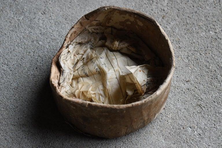 Japanese Old Pottery 1800s-1860s/Antique Vessel Flower Vase Wabisabi Tsubo Jar 1