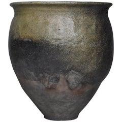 Japanese Old Pottery Edo Period 1750s-1860s/Antique Vessel Vase Wabisabi-Art