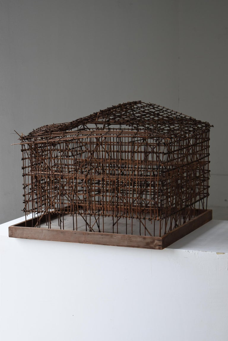 Japanese Old Scaffolding Model 1940s-1970s/Figurine Object Contemporary Art  8