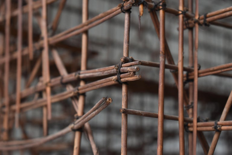 Japanese Old Scaffolding Model 1940s-1970s/Figurine Object Contemporary Art  In Good Condition In Sammushi, JP