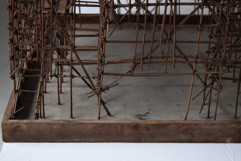 Japanese Old Scaffolding Model 1940s-1970s/Figurine Object Contemporary Art  3