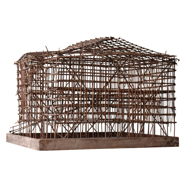 Japanese Old Scaffolding Model 1940s-1970s/Figurine Object Contemporary Art