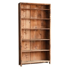 Japanese Old Simple Shelves / Wooden Thin Shelves / Exhibition Shelves