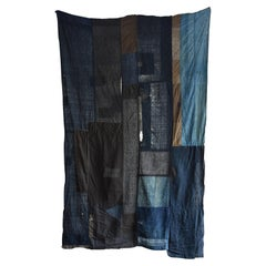 Japanese Old Spliced Large Cloth / Large Tapestry / Exhibition Rug / 20th