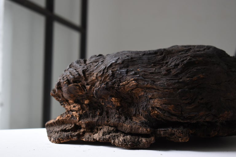 Japanese Old Tree Bump/Antique Object Figurine Wood Sculpture Wabisabi Art In Good Condition For Sale In Sammushi, JP