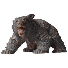 Japanese Old Wood Carving Bear Ainu 1930s-1950s/Vintage Figurine Sculpture