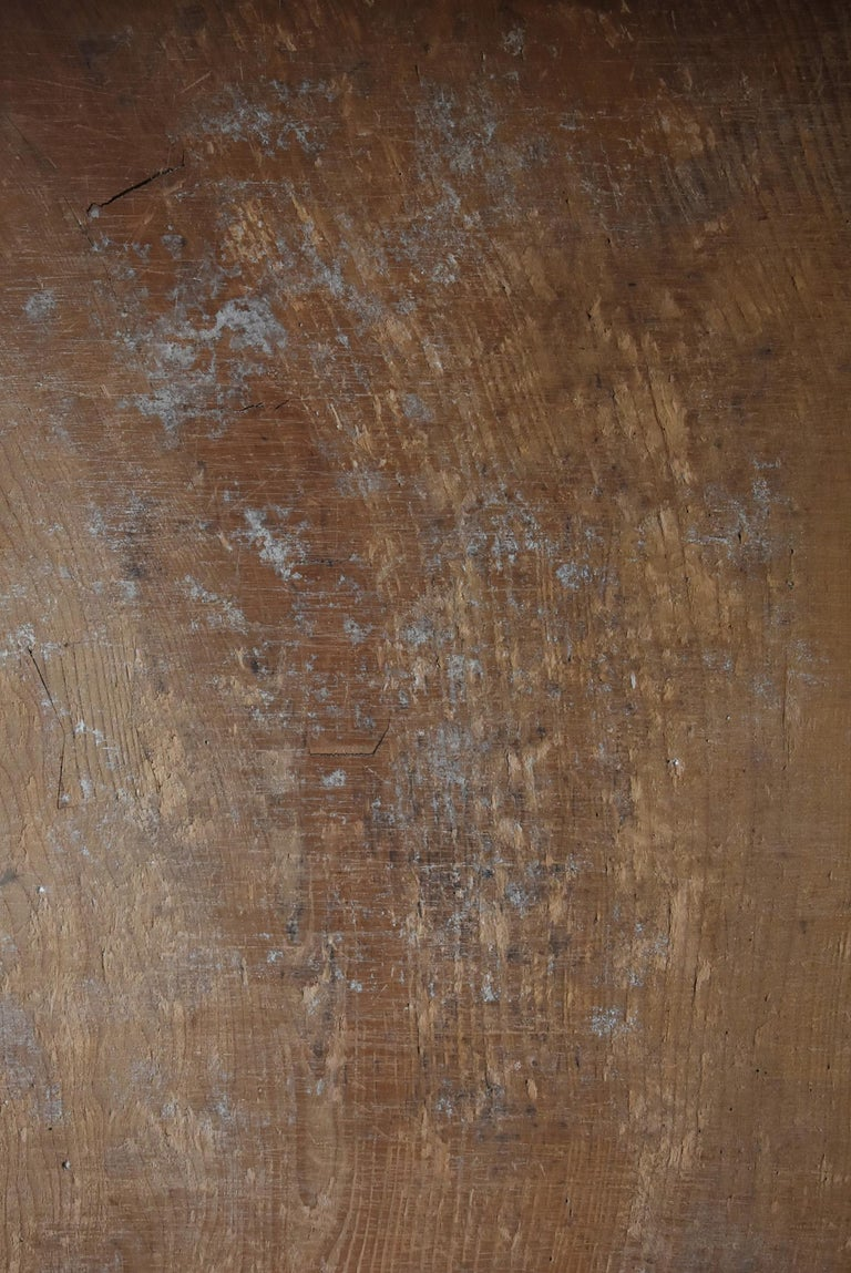20th Century Japanese Old Wooden Board 1860s-1920s/Antique Abstract Art Wabisabi Contemporary For Sale