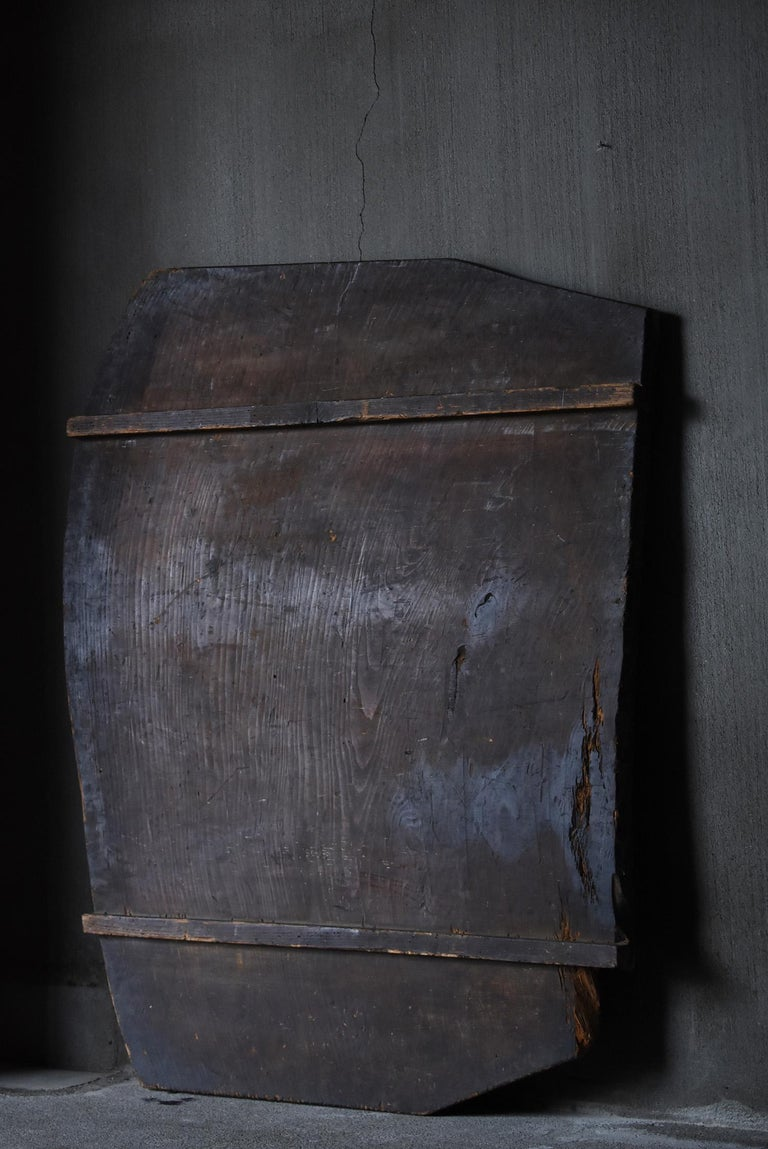 Cedar Japanese Old Wooden Board 1860s-1920s/Antique Abstract Art Wabisabi Contemporary For Sale