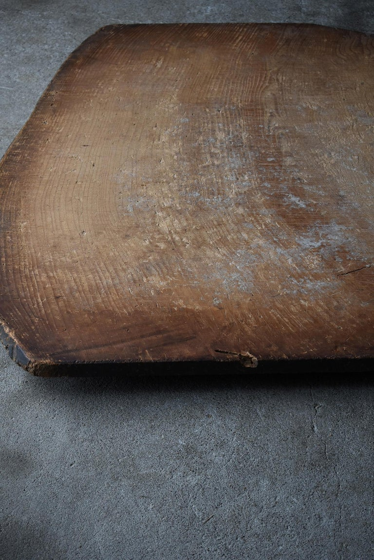 Japanese Old Wooden Board 1860s-1920s/Antique Abstract Art Wabisabi Contemporary For Sale 1