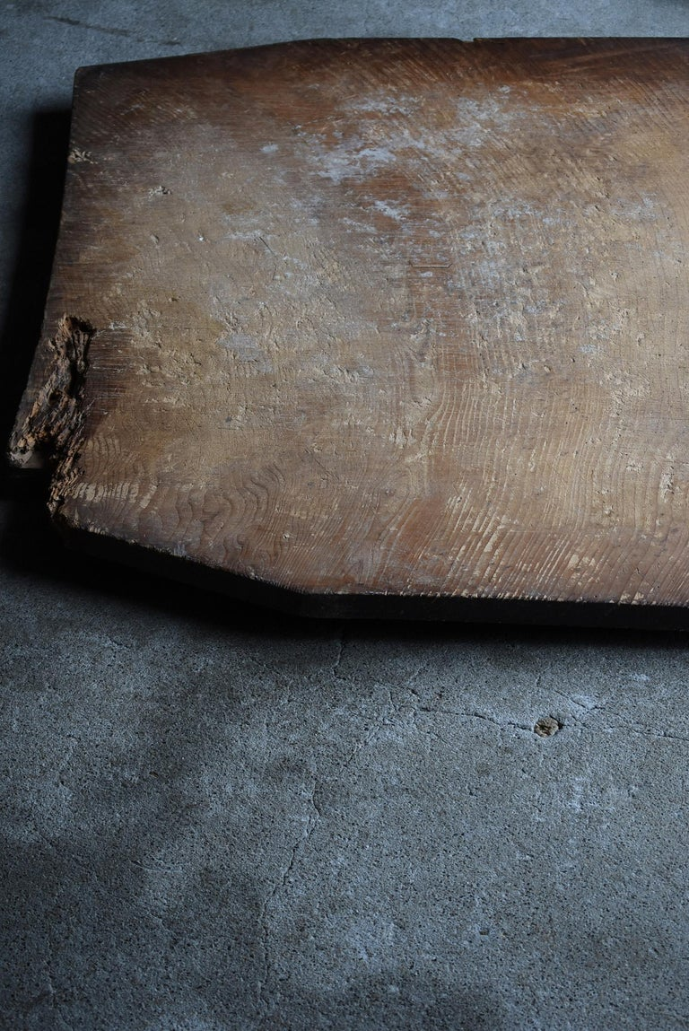 Japanese Old Wooden Board 1860s-1920s/Antique Abstract Art Wabisabi Contemporary For Sale 2