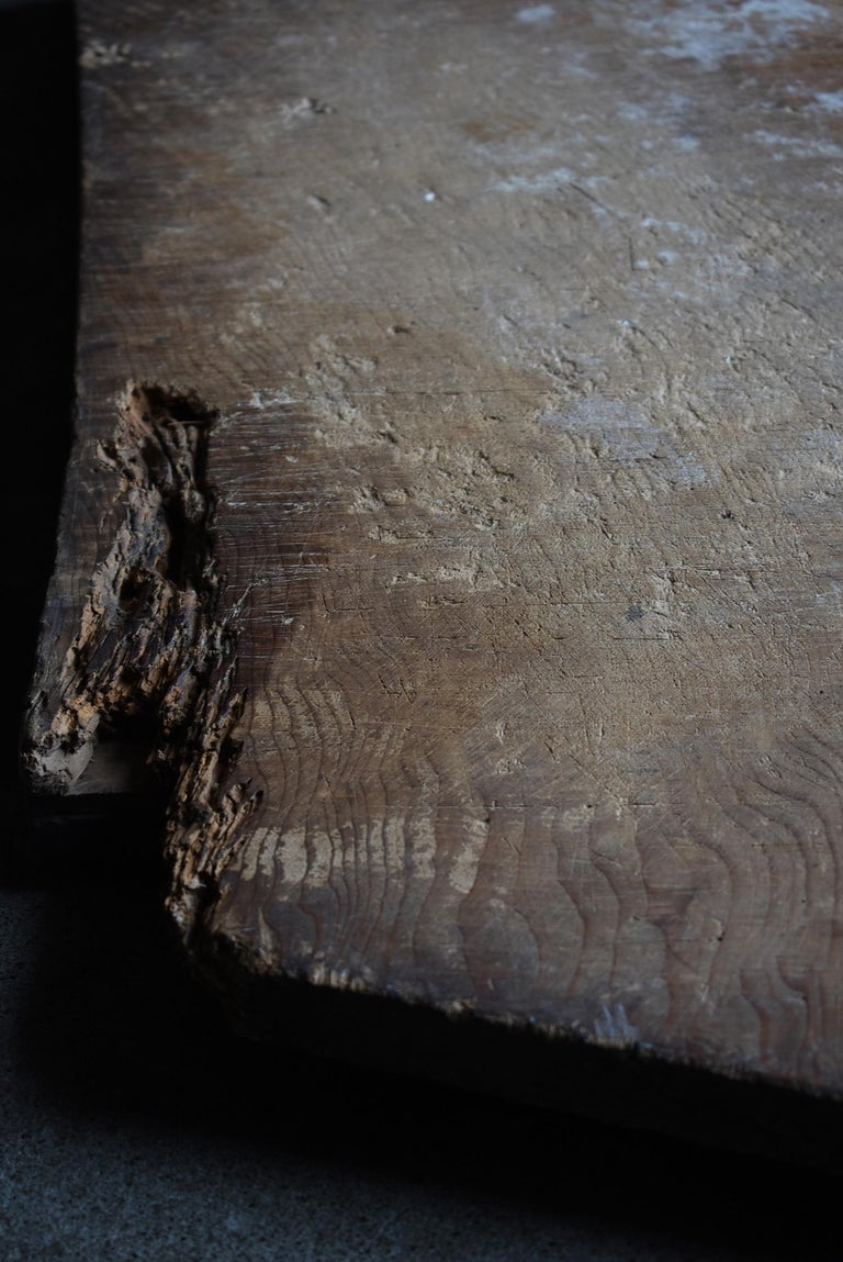 Japanese Old Wooden Board 1860s-1920s/Antique Abstract Art Wabisabi Contemporary For Sale 3