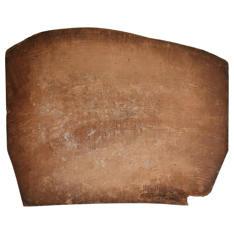 Japanese Old Wooden Board 1860s-1920s/Antique Abstract Art Wabisabi Contemporary For Sale