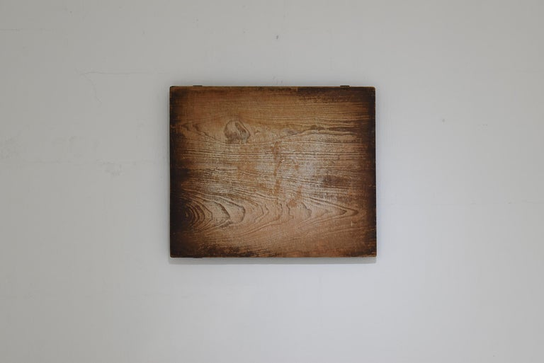 Japanese Old Wooden Board Mochiita 1860s-1920s/Antique Abstract Art Wabisabi For Sale 4