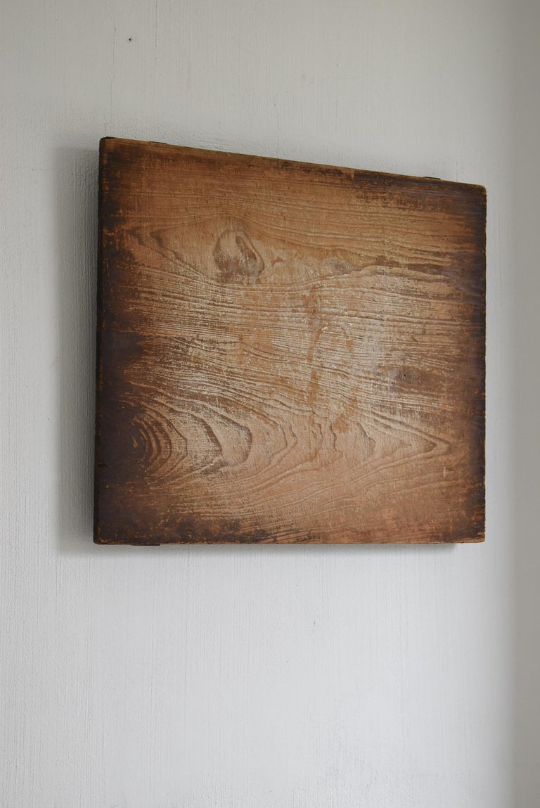 Meiji Japanese Old Wooden Board Mochiita 1860s-1920s/Antique Abstract Art Wabisabi For Sale