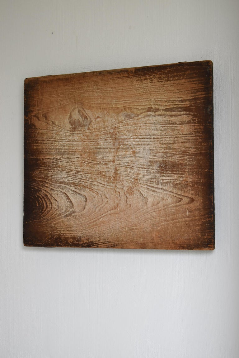 Japanese Old Wooden Board Mochiita 1860s-1920s/Antique Abstract Art Wabisabi In Good Condition For Sale In Sammushi, JP