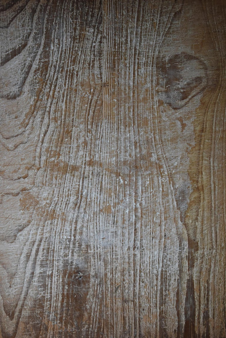 Cedar Japanese Old Wooden Board Mochiita 1860s-1920s/Antique Abstract Art Wabisabi For Sale