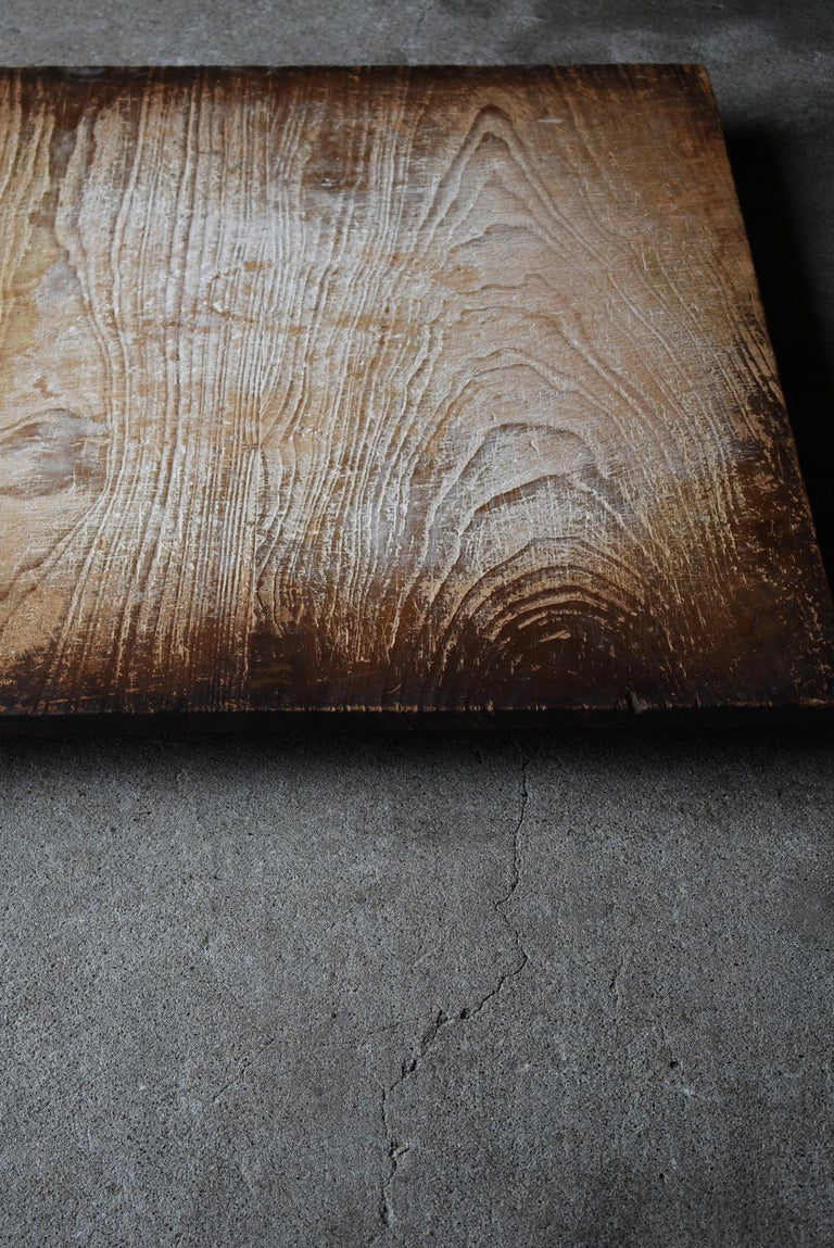 Japanese Old Wooden Board Mochiita 1860s-1920s/Antique Abstract Art Wabisabi For Sale 2