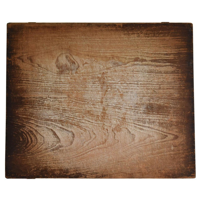 Japanese Old Wooden Board Mochiita 1860s-1920s/Antique Abstract Art Wabisabi For Sale