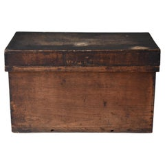 Japanese Old Wooden Box 1860-1920/Antique Storage Sofa Table Tansu Coffee Table