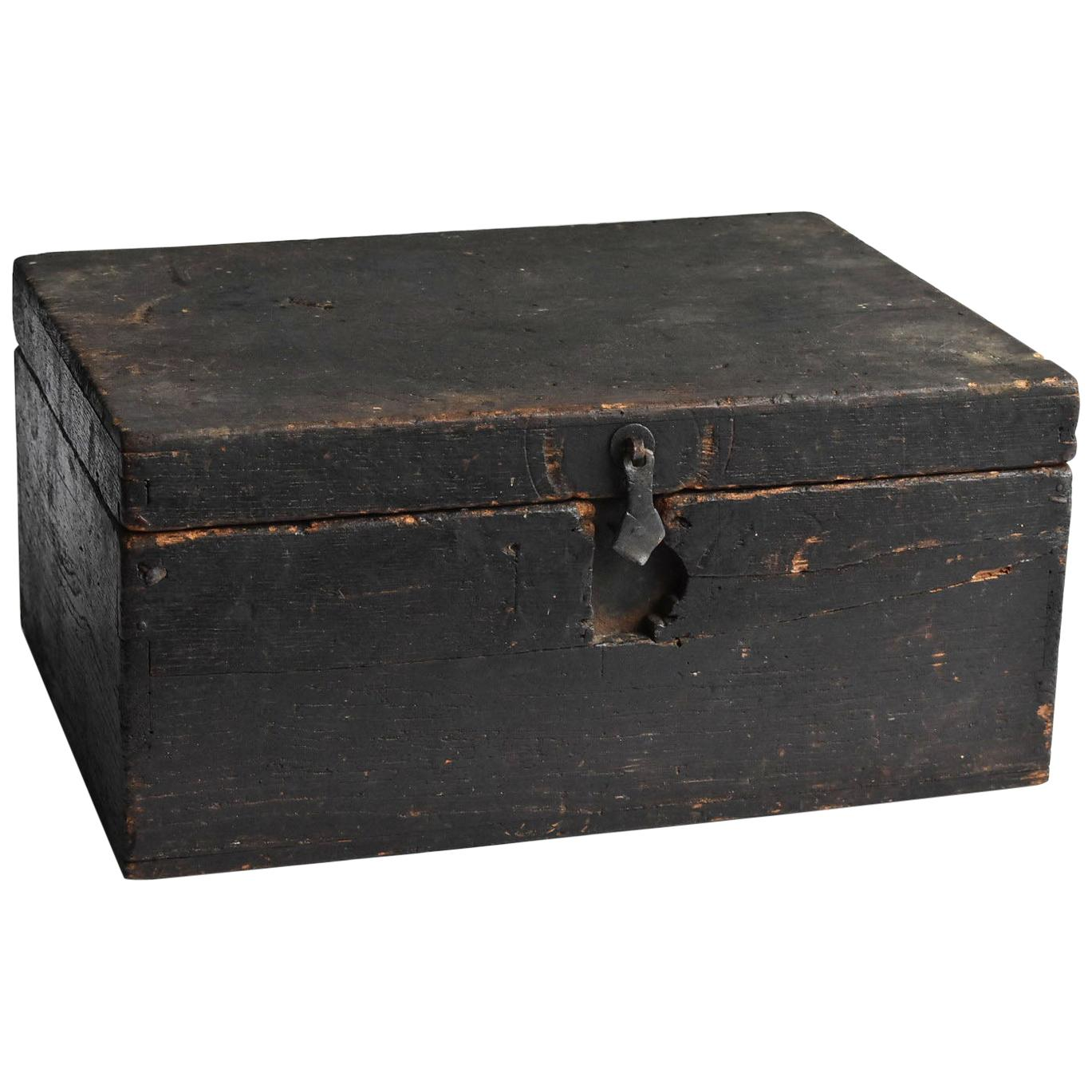 Japanese Old Wooden Tool Box / Antique Display Stand / Wabi-Sabi Storage Box