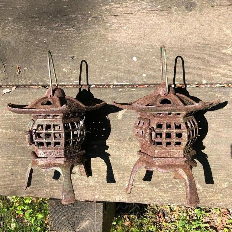 Showa Japanese Pair of Tea Garden