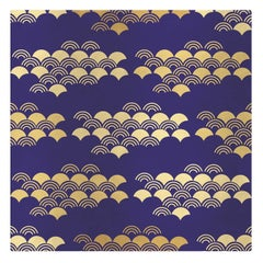 Japanese Pattern Blue Panel