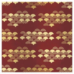 Japanese Pattern Red Panel