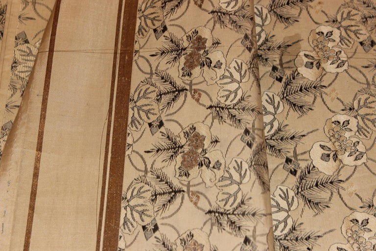 Late 19th Century Japanese Pine Leaf Obi For Sale