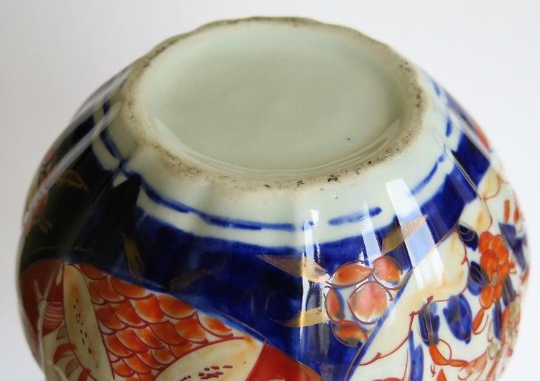 Japanese Porcelain Bottle Vase Hand Painted Imari, Meiji Period Circa 1875 For Sale 13